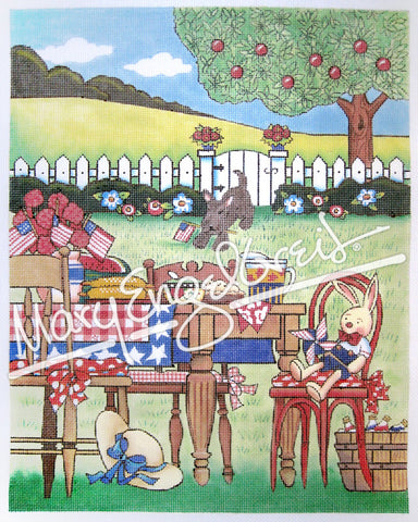 Needlepoint Canvas: Patriotic Picnic