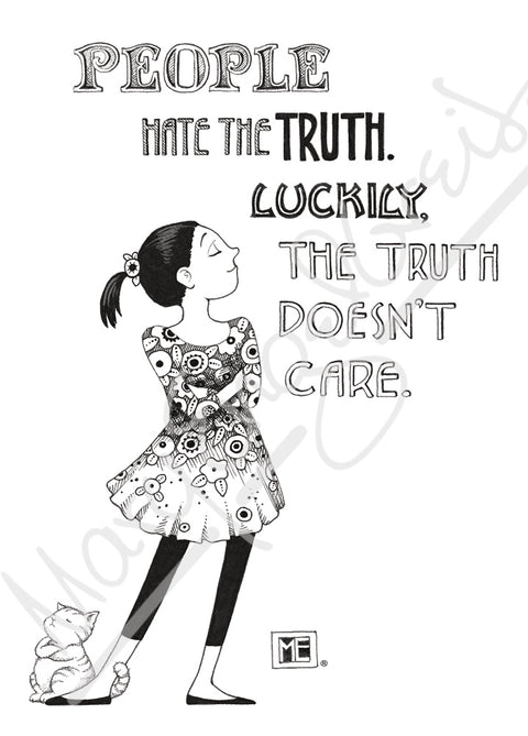 People Hate Truth Engeldark Card