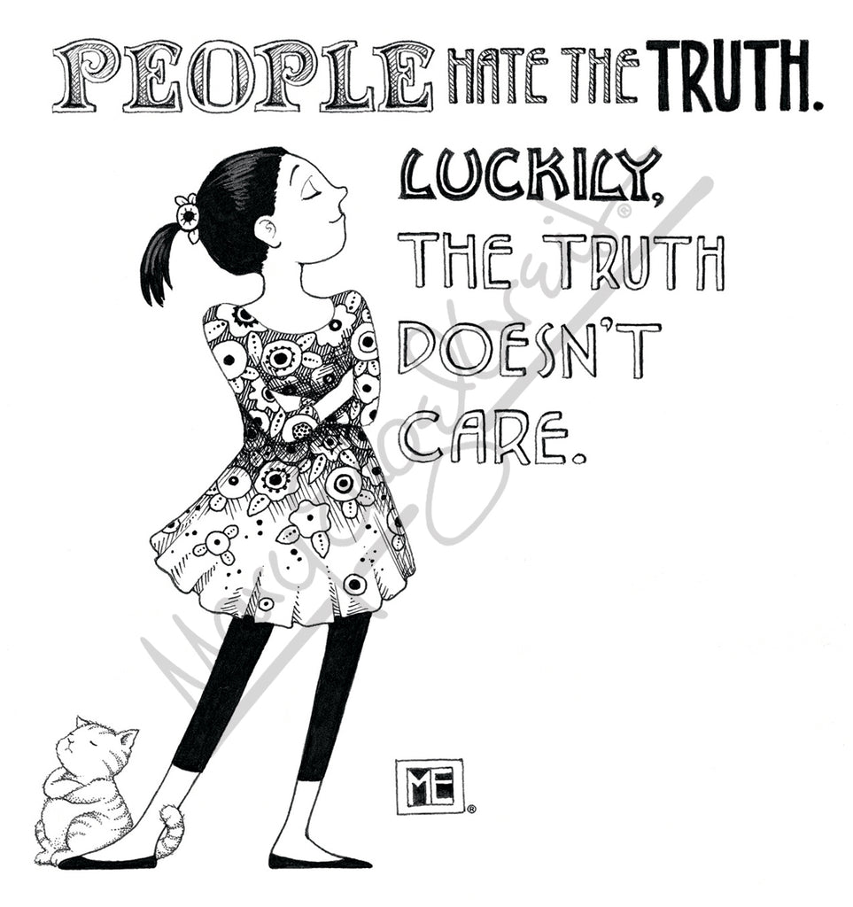 People Hate Truth Magnet