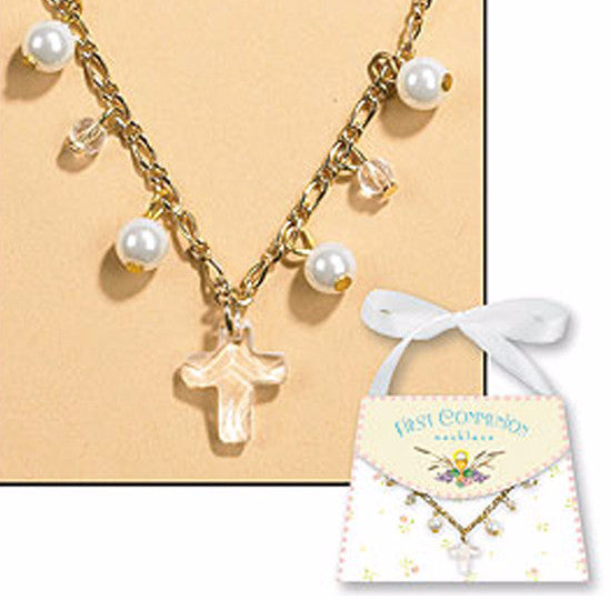ebay itm communion necklace cross and s enamel first is image holy beautiful loading