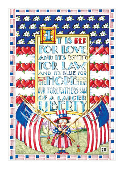 Red White Blue Liberty Limited Edition Print
