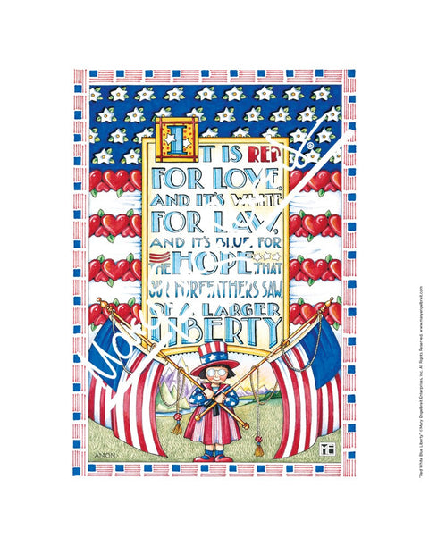 Red White Blue Liberty Fine Print