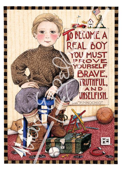 Real Boy Greeting Card