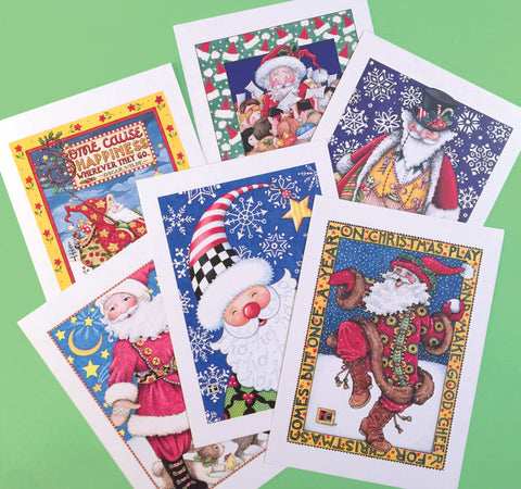 Christmas Santas Postcards, series 2