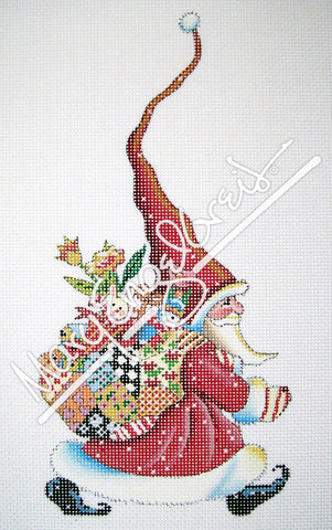 Needlepoint Canvas: Santa Marches On