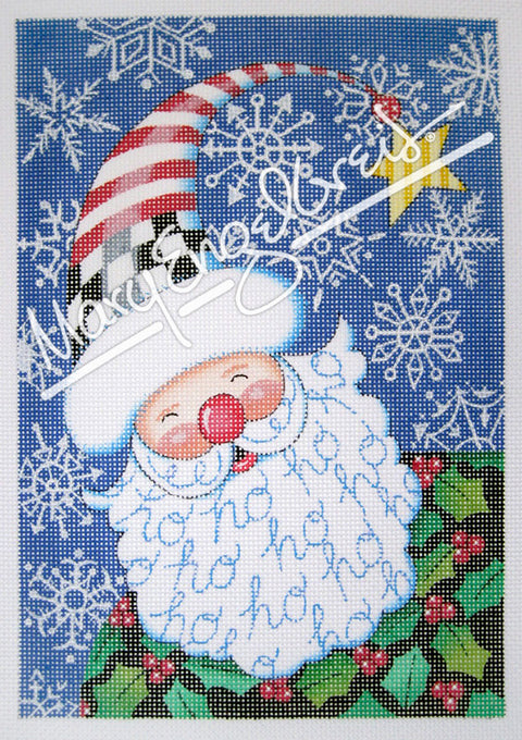 Needlepoint Canvas: Santa Snowflake