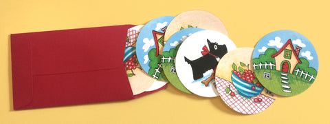 Scottie, Cherries and Cottage Stickers