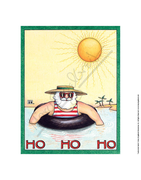Sunburned Santa Fine Art Print