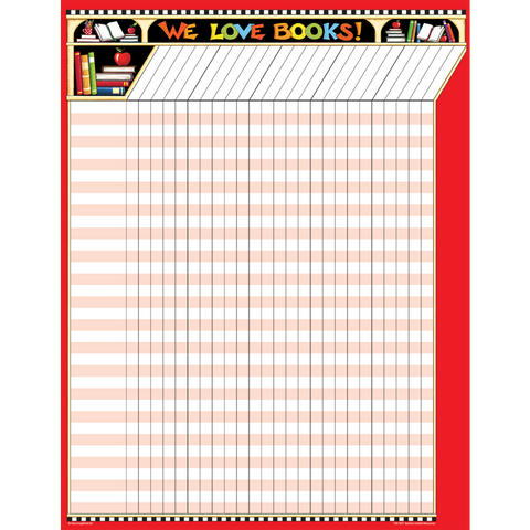 We Love Books Incentive Chart