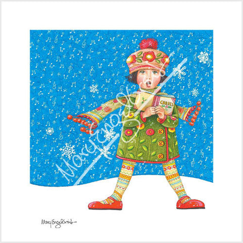 The Caroler Limited Edition Print