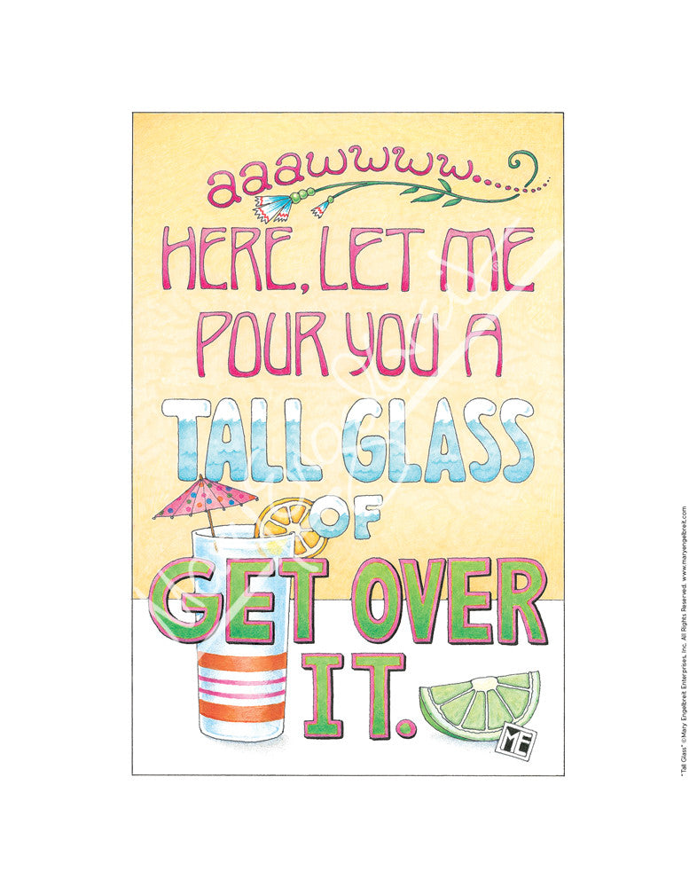 Tall Glass Fine Print