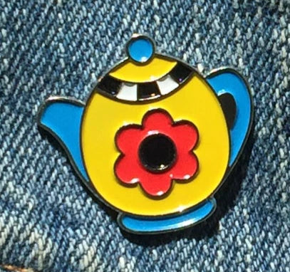 Teapot Enamel Art Pin