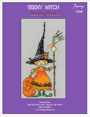Teeny Witch Counted Cross Stitch Kit
