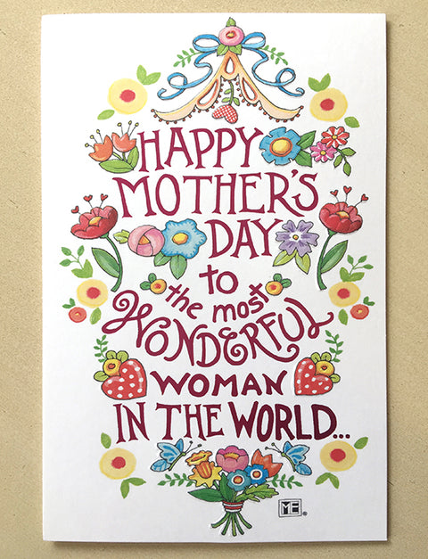 The Most Wonderful Woman - Mother's Day Card