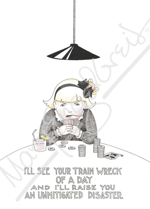 Train Wreck Engeldark Card