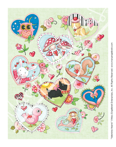 Valentine Hearts Mini Print