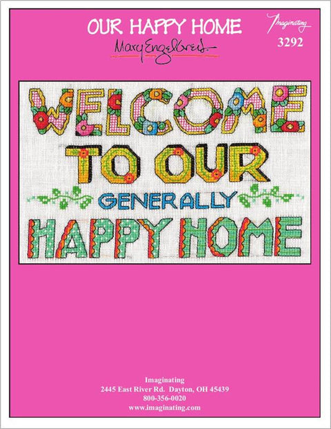 Our Happy Home Counted Cross Stitch Leaflet