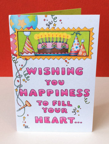 Wishing You Happiness Birthday Card