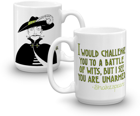 """Battle of Wits"" Mug"