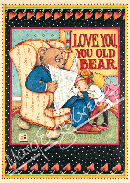 You Old Bear Greeting Card