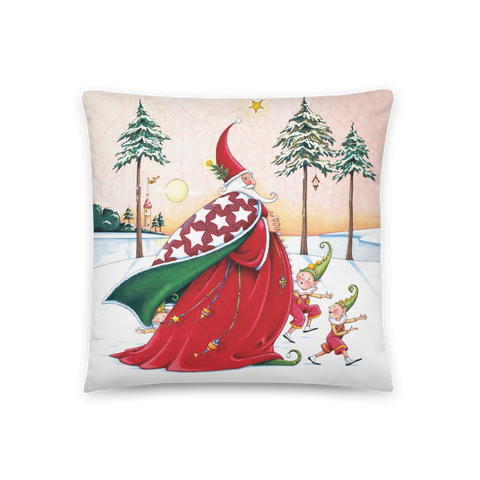"""The Christmas Wizard"" Pillow"