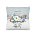 """Snowy Cottage"" Pillow"