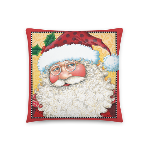 """Big Santa Face"" Pillow"