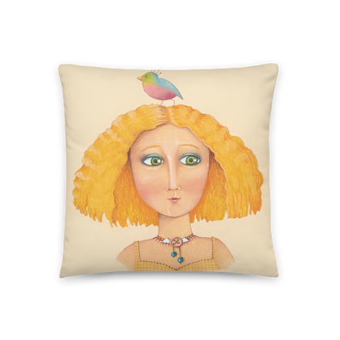 """Birdhead"" Pillow"