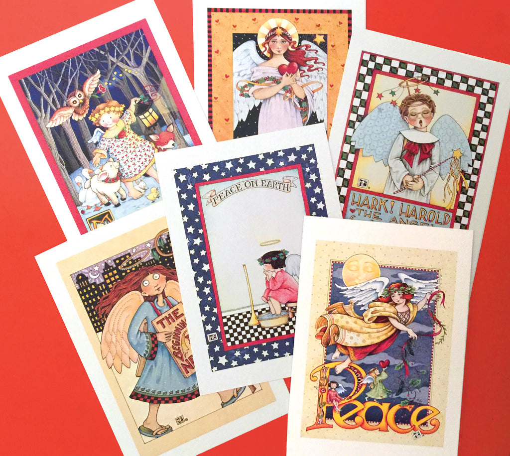 Christmas Angels Postcards