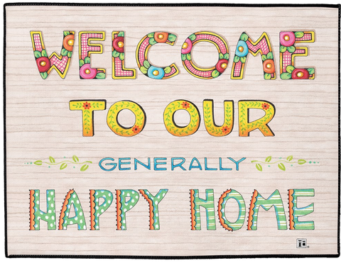 """Our Happy Home"" Welcome Mat"