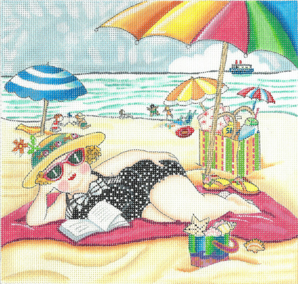Needlepoint Canvas: At the Seaside
