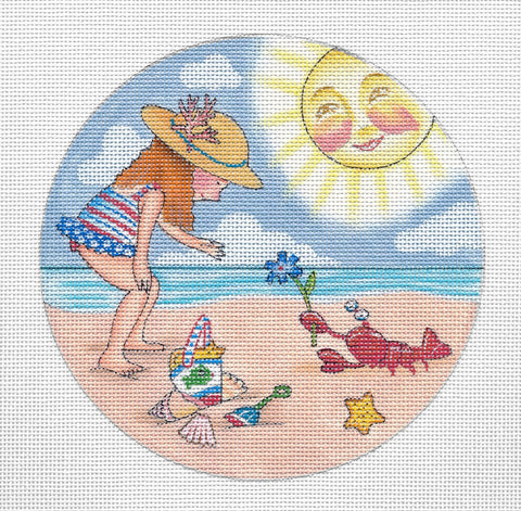 Needlepoint Canvas: Beach Lobster