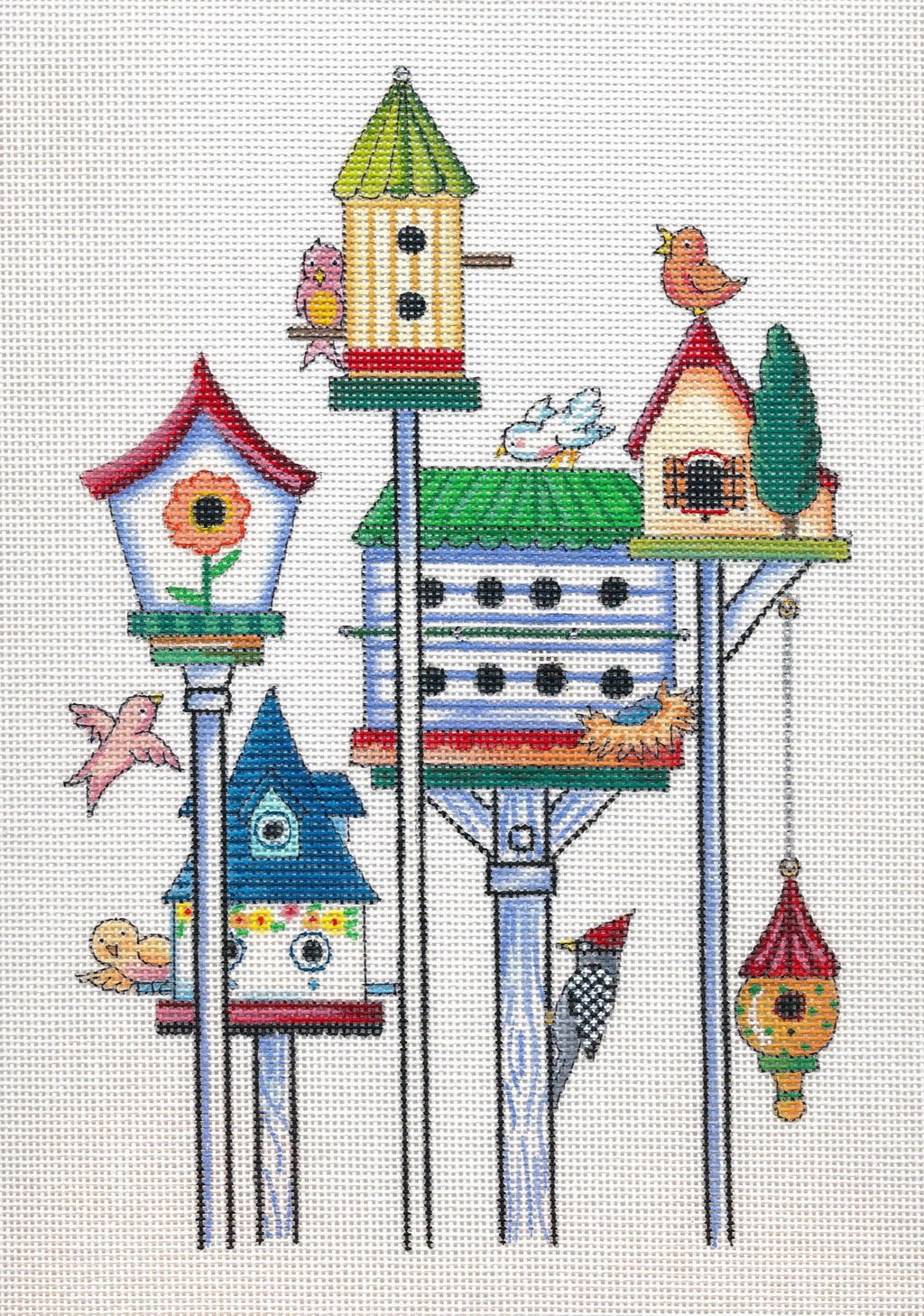 Needlepoint Canvas: For the Birds