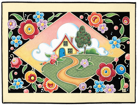 """Cottage Cameo"" Welcome Mat"