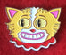 Smiling Cat Enamel Art Pin