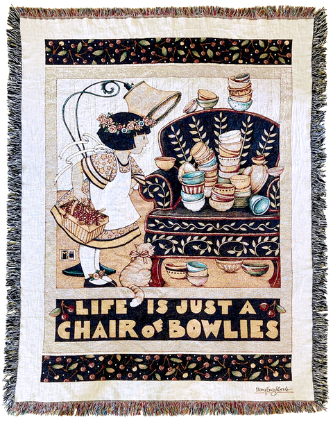 Chair of Bowlies Woven Blanket