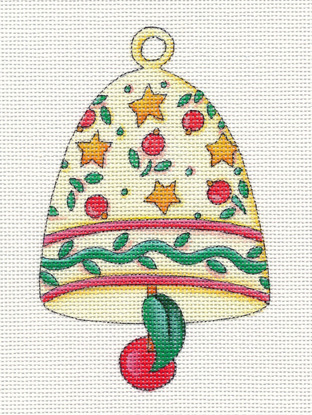 Needlepoint Canvas: Star Bell Ornament