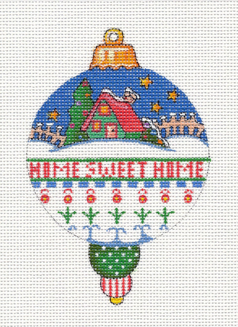 Needlepoint Canvas: Home Sweet Home Ornament