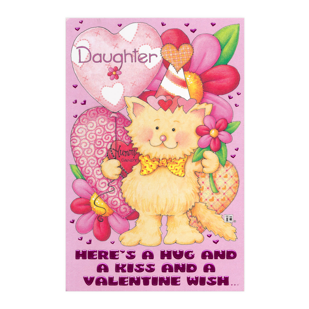 Heres a hug daughter valentines day card mary engelbreit heres a hug daughter valentines m4hsunfo