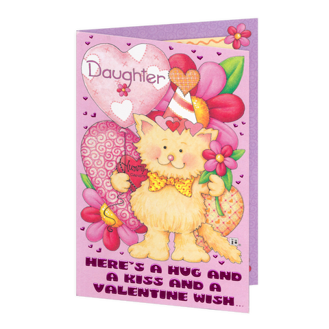 Here's a Hug Daughter Valentine's Day Card