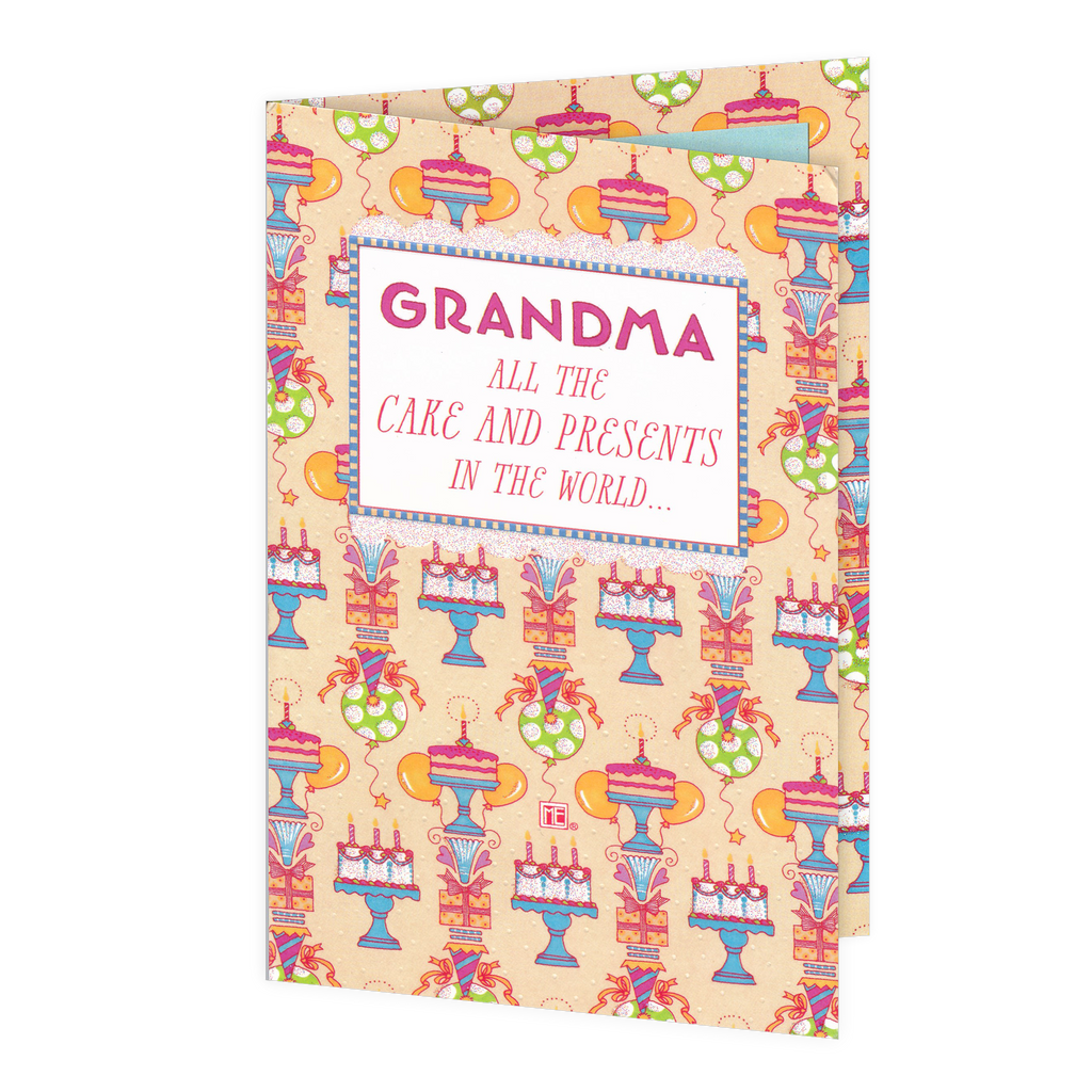 Grandma's Birthday Cake Greeting Card