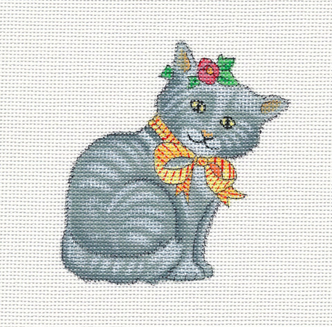 Needlepoint Canvas: Violet the Cat