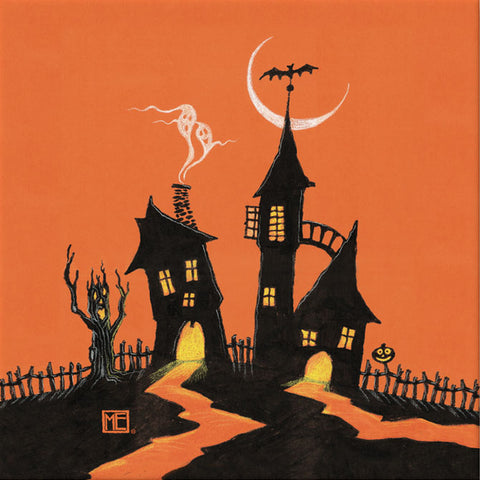 Haunted House Canvas Wrap