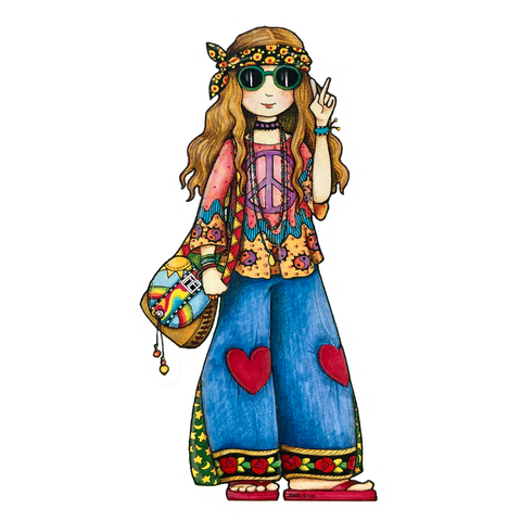 Hippie Chick Sticker