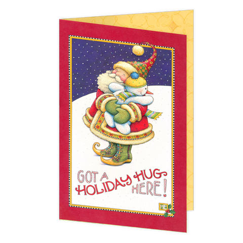 Holiday Hug Greeting Card