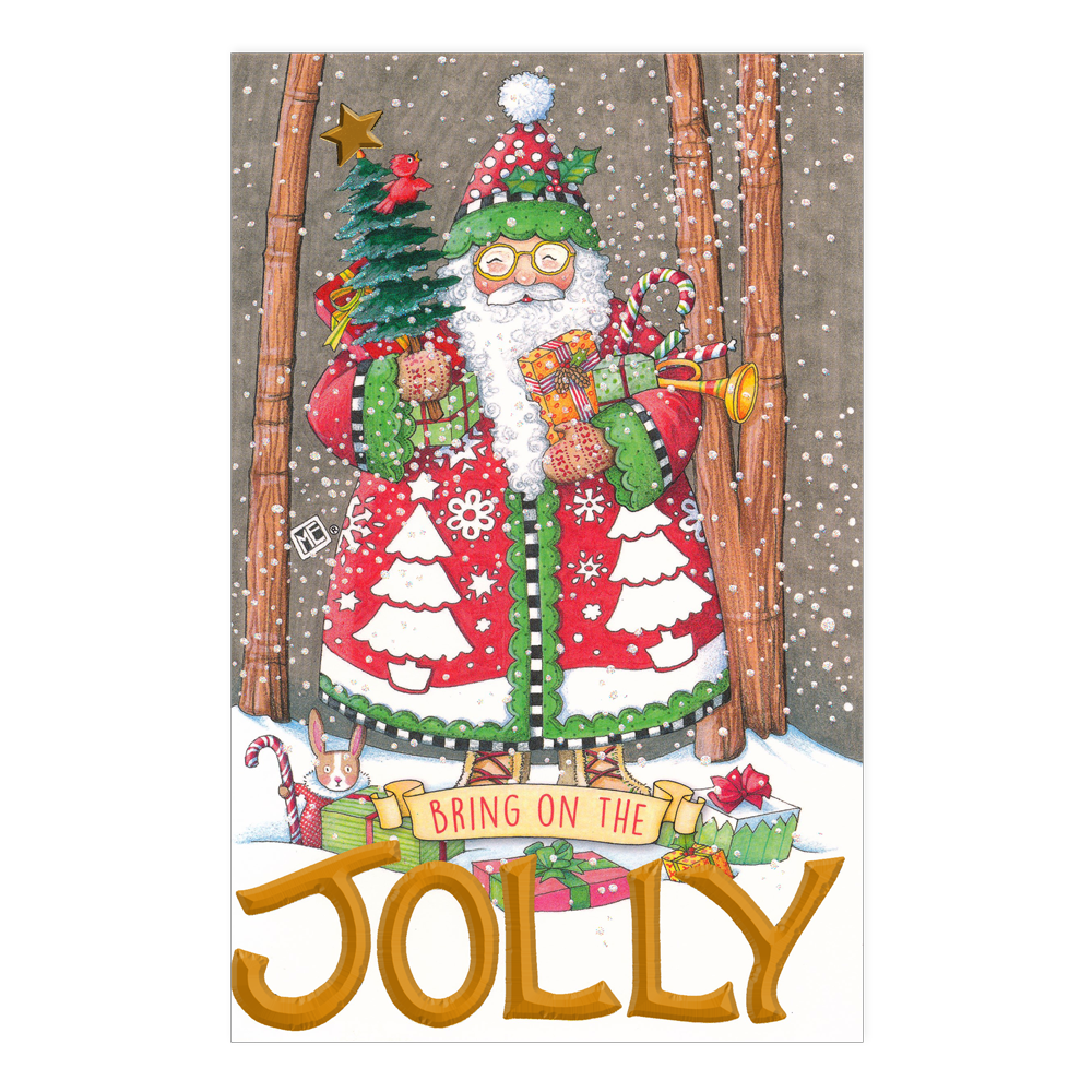 Bring On the Jolly Christmas Greeting Card - Mary Engelbreit