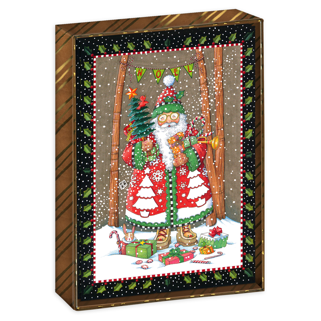 Jolly Santa Boxed Christmas Cards – Mary Engelbreit