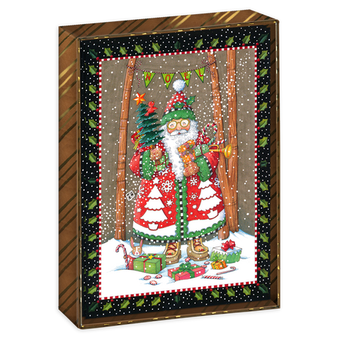 Boxed bundled greeting cards mary engelbreit jolly santa boxed christmas cards m4hsunfo