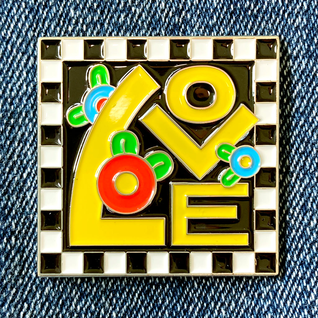 Love Enamel Art Pin