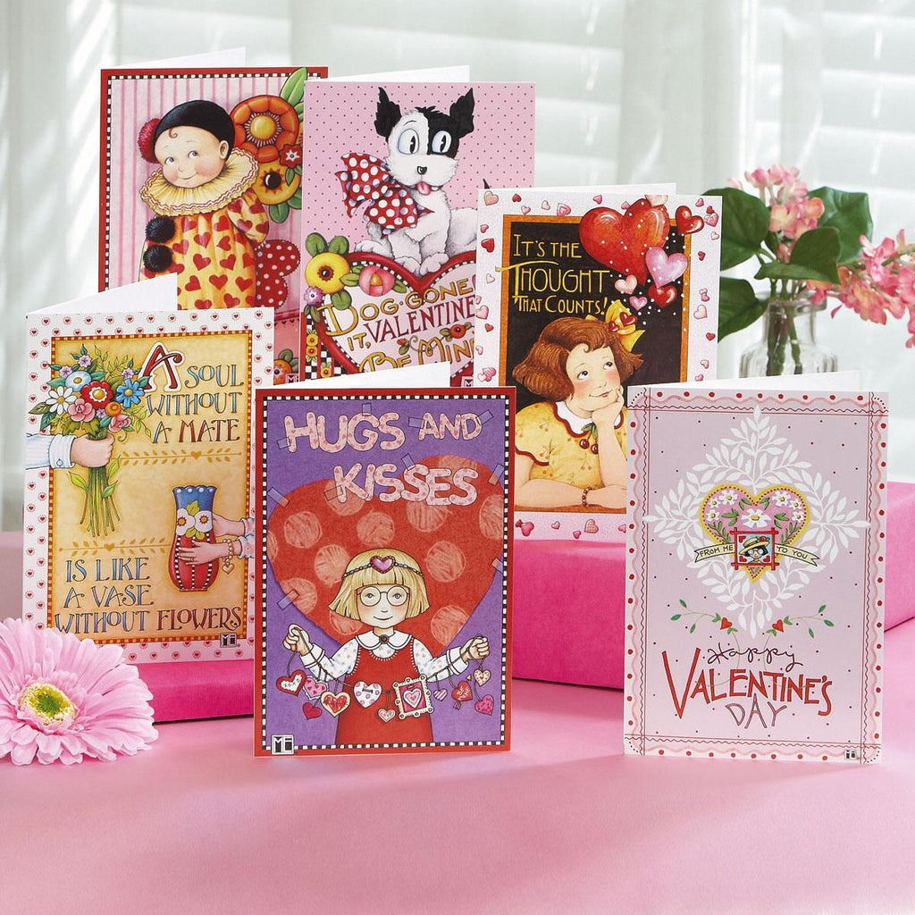 Hearts and Flowers Valentine Card Bundle